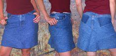Cómo convertir tus jeans en una falda