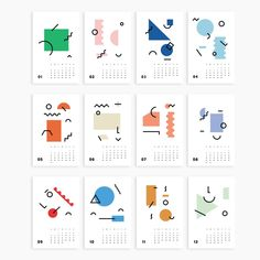 2020 Wall Art Calendar by Los Angeles based design studio Poketo. Bold graphics of modern elegance, this is a calendar for the derisgn minded. Art Calendar, Calendar 2020, Calendar Design, Calendar Ideas, Desk Calendars, Magazine Design, Graphic Design Magazine, Creative Christmas Gifts, Christmas Gifts For Coworkers