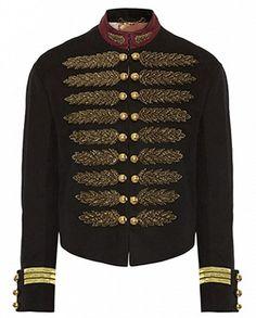 Style militaire détaillée dor manteau par WEARALL sur Etsy