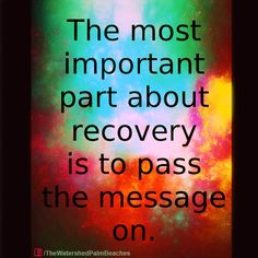 You can't keep what you have if you don't give it away. #recovery #motivation #helpingothers