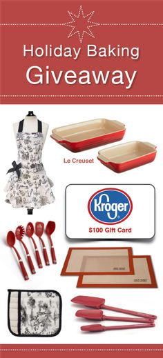 Holiday Baking Giveaway and Cinnamon Roll Kabobs by www.whatscookingwithruthie.com #recipes #giveaway #christmas