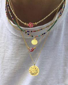 Nail Jewelry, Funky Jewelry, Cute Jewelry, Beaded Jewelry, Jewelry Accessories, Handmade Jewelry, Accesorios Casual, Summer Jewelry, Fashion Jewelry