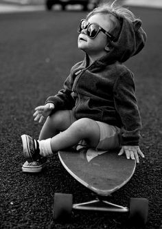 omg this is totally what my little boy is going to be like. i could just die!-I wish I  still had my long board!