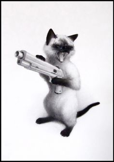 Crinkle, Drawings of Cute Animals With Weapons by Xiau-Fong Wee