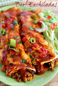 How to make Beef Enchiladas. The best Beef Enchiladas. Mexican Dishes, Mexican Food Recipes, Real Food Recipes, Mexican Meals, Slow Cooker Recipes, Beef Recipes, Cooking Recipes, Easy Recipes, Entree Recipes