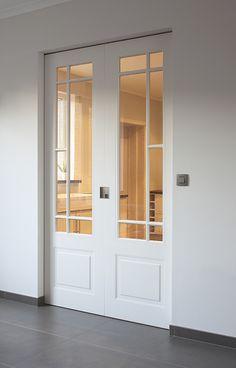 Sliding double door - Lilly is Love Porch Doors, Room Doors, Windows And Doors, Double Doors Interior, Door Design Interior, Dream Home Design, House Design, Internal Double Doors, Double Door Design
