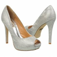 Badgley Mischka Women's Humbie VI Shoes (White/Silver Lace)