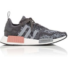 adidas Women's Women's NMD_R1 Sneakers ($130) ❤ liked on Polyvore featuring shoes, sneakers, lacing sneakers, round cap, adidas sneakers, rubber sole sneakers and adidas