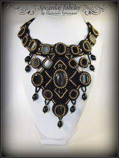 Handmade necklaces of beads and natural stones by Vladislava Ephemeron. Санкт-Петербург.