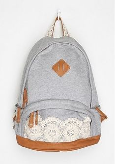 Kimchi Blue Lace & Jersey Backpack    i need this!