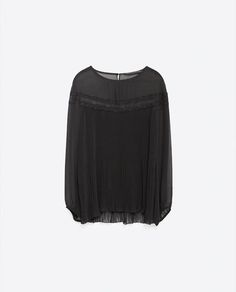 Image 8 of FINE PLEATED BLOUSE from Zara