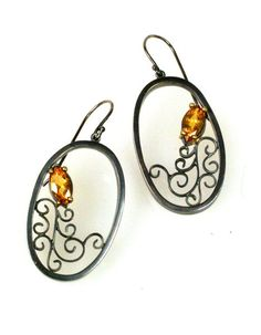 Natasha Wozniak Oval Filigree Earrings