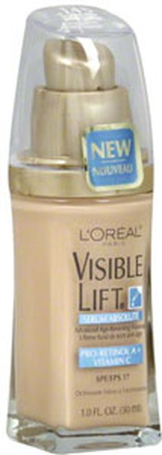 The 10 Best Foundations for Mature Skin: L'Oreal Visible Lift Serum Absolute Advanced Age-Reversing Makeup, $13-$15 (Best Blush Swatches)