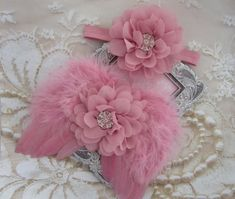 Rose Pink Angel Baby Wings AND/OR Matching by LilMissSweetPea
