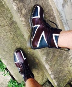 The 1460 Union Jack Pascal boot. Worn by fashion_bond.