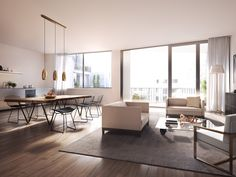 modern residential developments in london interiors cgis - Google Search