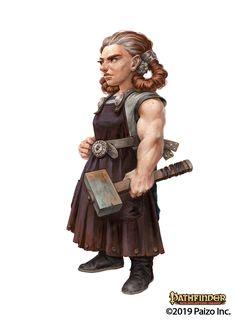 love illustration Female Dwarf Cleric Blacksmith - Kelda Halrig - Pathfinder PFRPG DND D&D fantasy Dungeons And Dragons Art, Dungeons And Dragons Characters, Dungeons And Dragons Homebrew, Dnd Characters, Fantasy Characters, Female Characters, Fantasy Inspiration, Character Inspiration, Dnd Dwarf