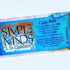 ..Simple Minds 'Once Upon a Time' tour 1986. They sang 'Don't you forget about me' after which a mad thunderstorm began with full-on lightning show from the big man upstairs!⚡⛈️ ..Hard to forget that one! 😄 But definately one of the best performances I've ever seen @simplemindsmusic . . . #simpleminds #onthisday #dontyouforgetaboutme #onceuponatime #dublin #goodtimes #eighties #concerts #ireland #dublingigs #crokepark #gigs #tickets #concert #28june1986 #ireland #concerttickets #jimkerr…