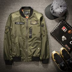 Cheap force drivers, Buy Quality jacket outdoor directly from China force pump Suppliers: US Air Force flight jacket badge baseball uniform shark men ran with the money men and women motorcycle jacket tide Spr