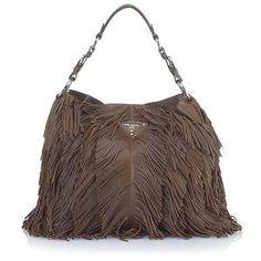 Prada Medium Leather Shoulder Handbag
