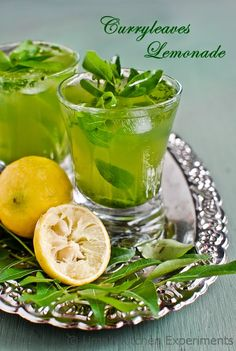 Curryleaves Lemonade ~ My Kitchen Experiments