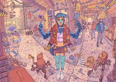 Ilustraciones Ciberpunk de un futuro distópico | The Creators Project