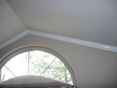 Crown Moulding Installed on a Vaulted Ceiling