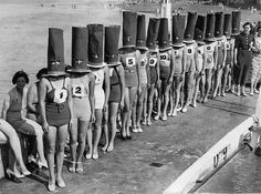 A faceless beauty contest in Cliftonville, England, 1936.
