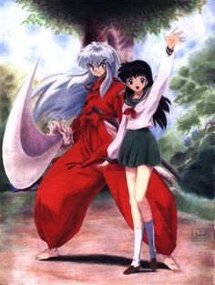 Inuyasha was one of the earlier anime that we had watched and is one of the few anime that are over 100 episodes that anime fans have stuck with. However, this is also one of the series that many people are. Inuyasha Anime, Manga Anime, Kagome And Inuyasha, Anime Art, Miroku, Kagome Higurashi, Funny Couples, Cute Anime Couples, Me Me Me Anime