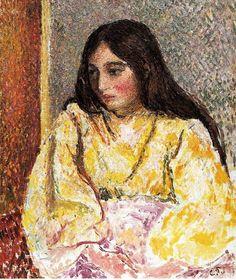 Portrait of Jeanne. (1893). Камиль Писсарро