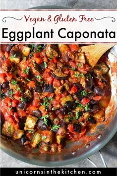 Eggplant caponata is an easy Sicilian appetizer that's full of flavor. This Vegan eggplant recipe ca Italian Eggplant Recipes, Vegetarian Eggplant Recipes, Italian Recipes, Aubergine Recipe Healthy, Healthy Eggplant Recipes, Healthy Recipes, Easy Dinner Recipes, Appetizer Recipes, Easy Meals