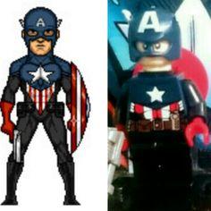 Bucky cap clásico lego Bucky, Legos, Batman, Superhero, Fictional Characters, Art, Art Background, Lego, Kunst