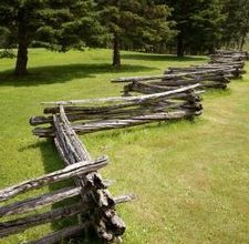 Stacked split rail fence....this always reminds me of visiting my grandparents on the farm.  Rail fences were still used then and I even helped stack them back up when they were knocked down.