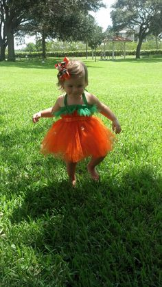 Pumpkin Tutu Dress.