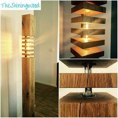 moderne Holz Skulptur Lampe Design Ideen Kollektion Etsy | Holz ...