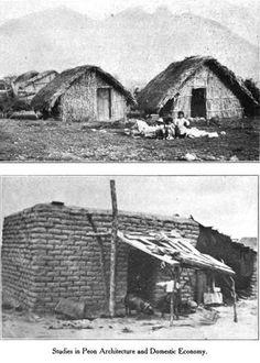 Casas humildes, quizá en el barrio San Luisito de Monterrey en 1907