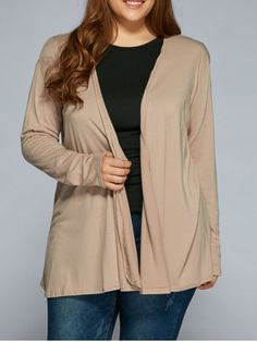 GET $50 NOW | Join RoseGal: Get YOUR $50 NOW!http://www.rosegal.com/plus-size-sweaters-cardigans/plus-size-drape-front-cardigan-778744.html?seid=7558296rg778744