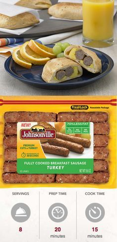 Your family will love these Breakfast Sausage Pocket Pies! Johnsonville Fully Cooked Turkey Breakfast Sausage nestled with eggs and American cheese, inside of refrigerated buttermilk biscuits! Perfect for mornings on the go. Make a big batch and freeze them for use during the week. #MorningHacks