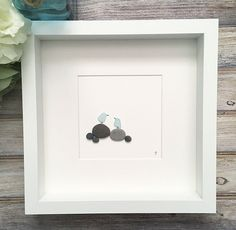 Your place to buy and sell all things handmade Engagement Gifts For Couples, Coastal Wall Decor, Couple Beach, Shell Art, Beach Art, Pebble Art, Couple Gifts, Handmade Shop, Love Birds