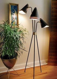 1955 Gerald Thurston Lightolier Floor Lamp