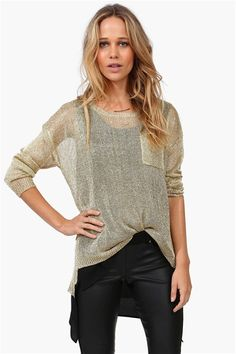 Knitty Gritty City Sweater in Gold
