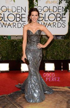 Kate Beckinsale in a gown by Zuhair Murad at the 2014 Golden Globe Awards