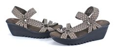 Bernie Mev Crystal Bronze Woven Casual Slip On Wedge Sandal $74.99 free ship