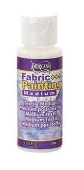 Medium to paint on fabric