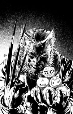Old Man Logan #10 B&W