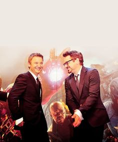 Jeremy Renner and Robert Downey, Jr.