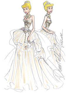 Cendrillon versace dessin robe