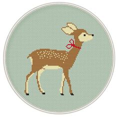Fawn cross stitch pattern Baby deer cross by MagicCrossStitch