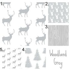 Woodland Grey Bedding Set, 3 Piece Deer Crib Set, Gender Neutral Crib Sheet, Crib Skirt, Bumper, Rustic Hunting Boy Nursery