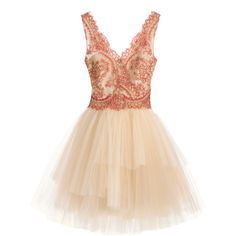 Rental Marchesa Notte Mila Dress (€92) ❤ liked on Polyvore featuring dresses, vestidos, short dresses, marchesa, nude, beige short dress, v neck mini dress, sleeveless dress and no sleeve dress